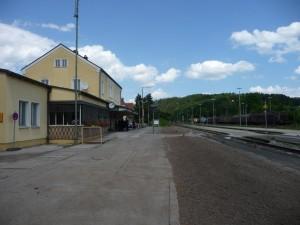 Verfülltes Gleisbett, Zustand 1. Juni 2015